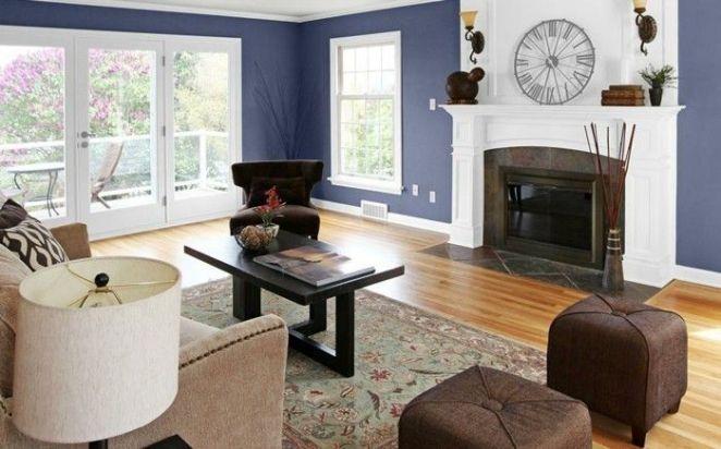 Déco Salon - cool Déco Salon - couleur mur salon bleu foncé ...