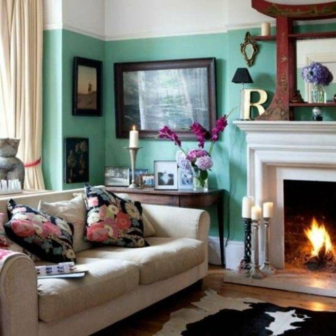 Déco Salon - couleur de peinture pour salon bleu marrin canape ...