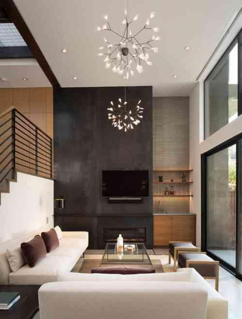 Déco Salon - décoration de salon moderne et canapé d\'angle en ...