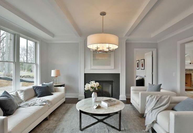 Déco Salon - salon cosy en couleur tendance : gris et blanc ...