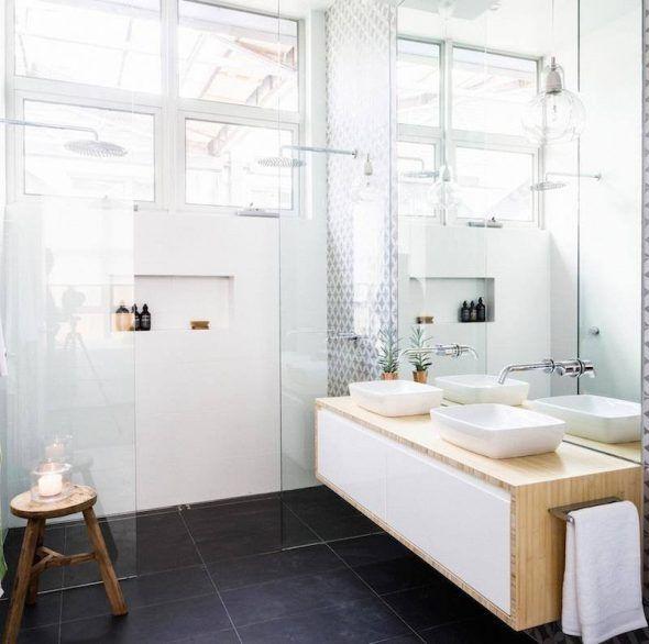 Id e d coration salle de bain d coration salle de bain zen plante verte pot meuble vasque bois - Vasque salle de bain zen ...