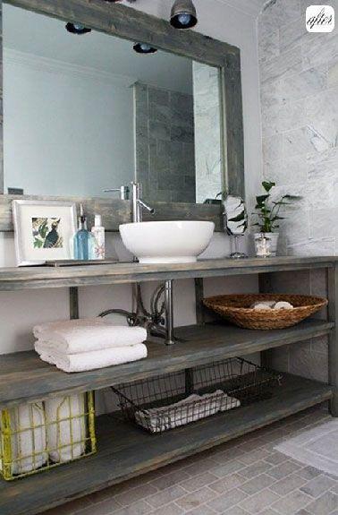 Idée décoration Salle de bain - Faire Son Meuble Salle De Bain ...