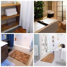 idée décoration salle de bain - salle de bain ikea hacks. tapis de ... - Caillebotis Salle De Bain Bois