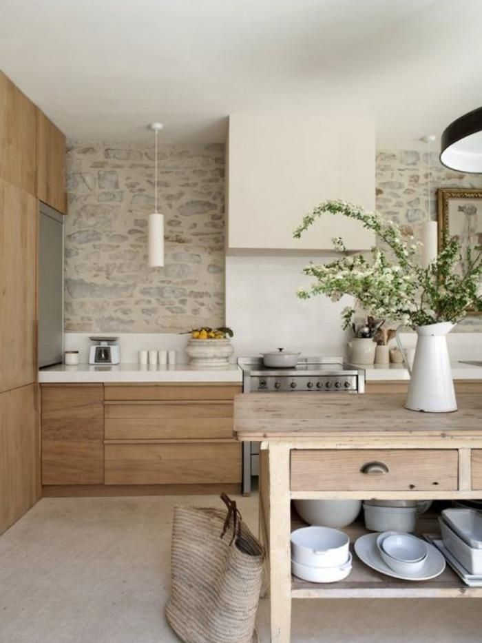 Cuisine Blanc Et Bois. Trendy Fabulous Cuisine Moderne Blanche Bois ...