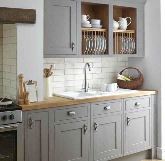 Id e relooking cuisine cuisine joliment arrang e for Cuisine blanche et grise