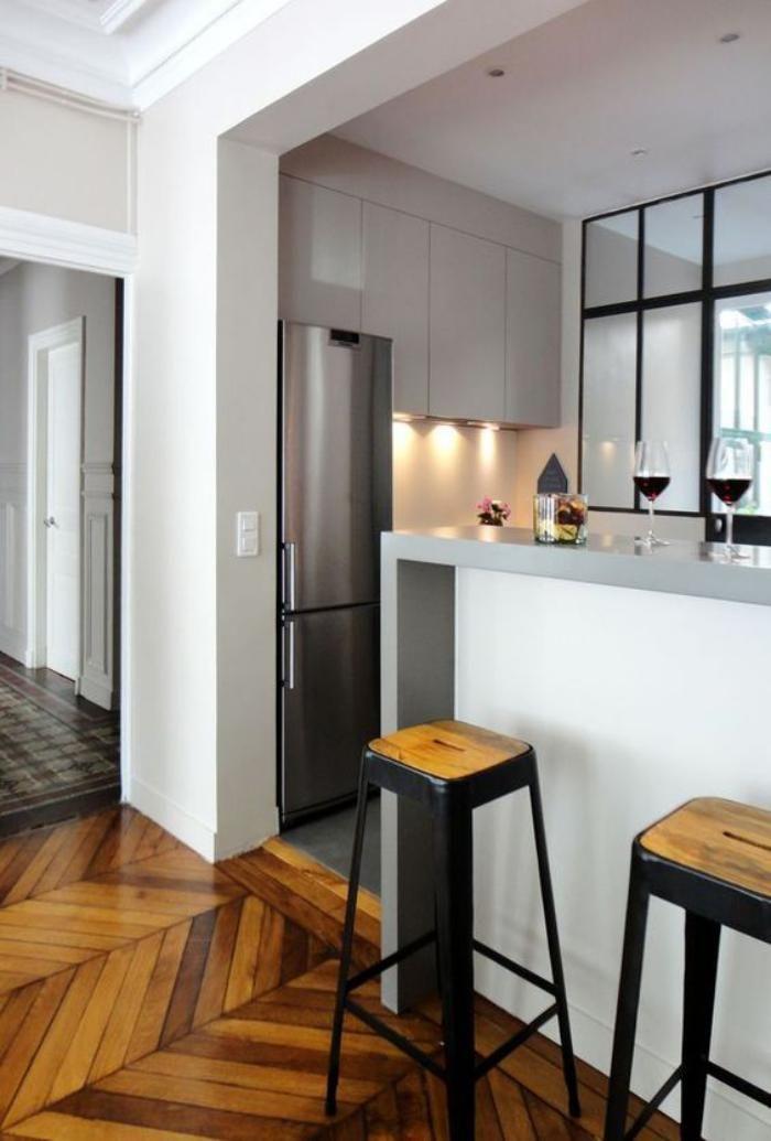 Idée relooking cuisine - cuisine moderne avec bar, cuisine ouverte ...