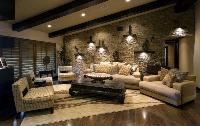 d co salon pierre de parement rev tement mural et int rieur d coratif. Black Bedroom Furniture Sets. Home Design Ideas