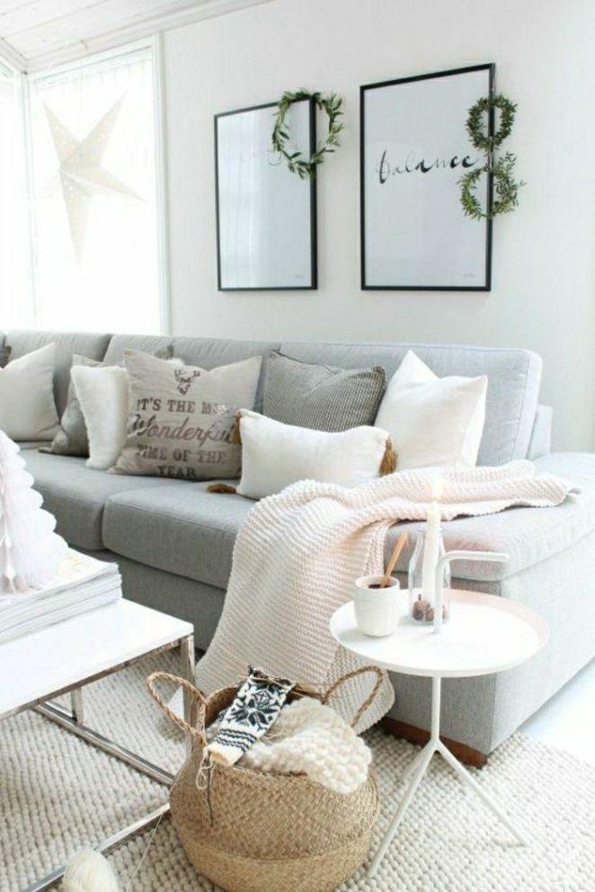 Déco Salon - jeté de canapé pas cher gris dans le salon moderne ...