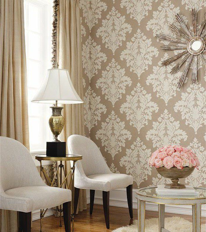 Tapisserie salon moderne d relief nontiss papier peint for Papier peint moderne salon