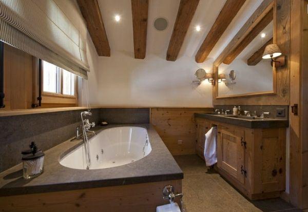 Idée décoration Salle de bain - Chalet rustique : 75 idées d ...