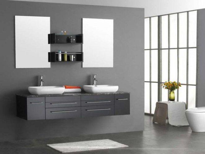 Id e d coration salle de bain excellente suggestion - Idee salle de bain grise ...