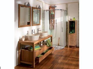 Id e d coration salle de bain cordoue meuble salle de for Salle de bain galet et bois