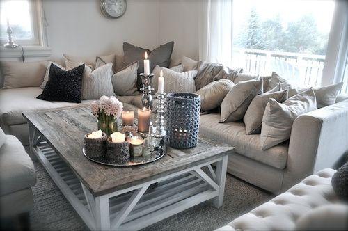 D co salon livingroom salon couleur pale gris blanc - Deco salon gris et beige ...