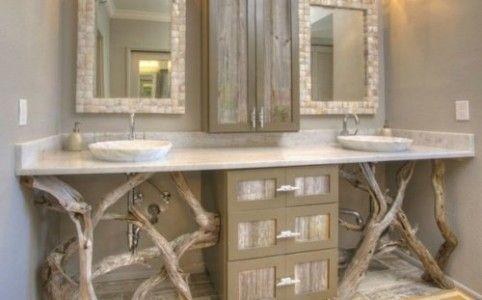 Idée décoration Salle de bain - déco salle de bain bois flotté ...