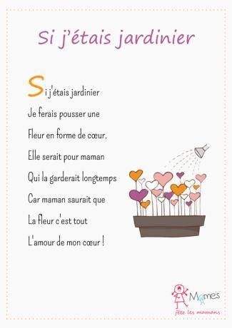 Id es cadeaux pour la f te des m res 2017 poeme fete des meres si j 39 tais jardinier - Fete des meres 2017 ...