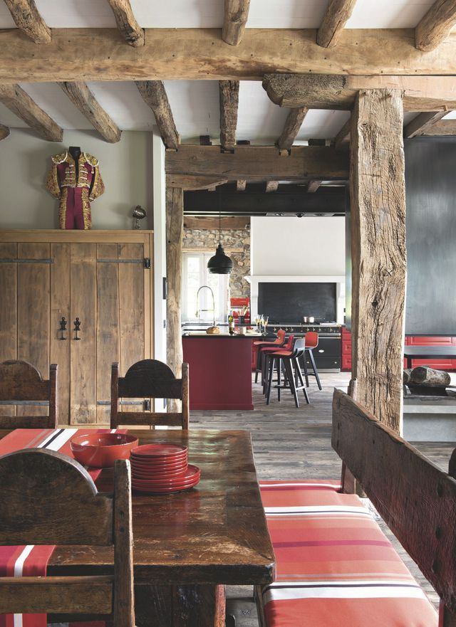 Salle à manger - Maison de famille au Pays basque : une ancienne ...