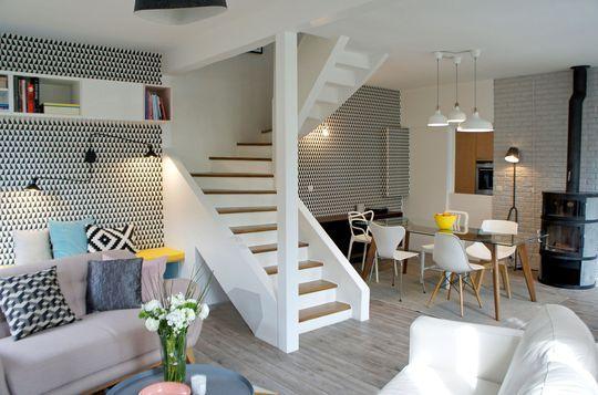 salle manger rnovation maison un sjour la dcoration scandinave - Renovation Sejour Salle A Manger