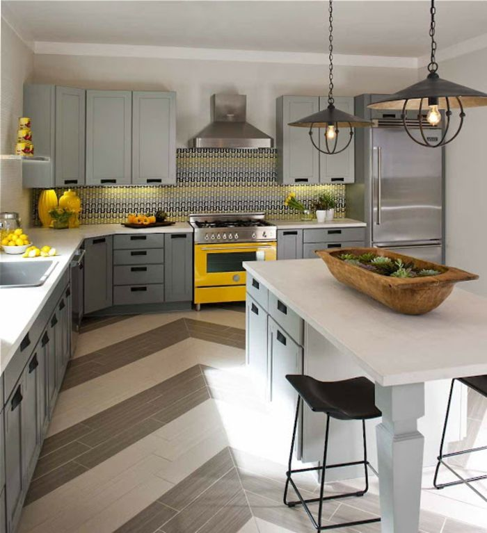 Id e relooking cuisine modele de cuisine moderne for Modele de cuisine grise