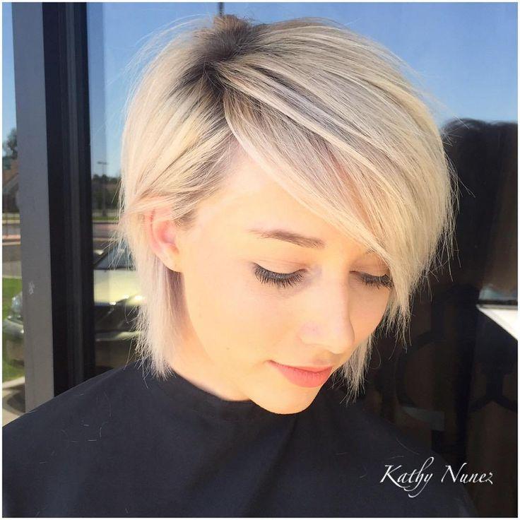 Id es coupe cheveux pour femme 2017 2018 50 coiffures et coiffures blondes la mode et la - Coupe rasee femme 2017 ...