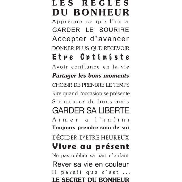 citation stickers mural texte humour maison bonheur porte deco original g ant. Black Bedroom Furniture Sets. Home Design Ideas