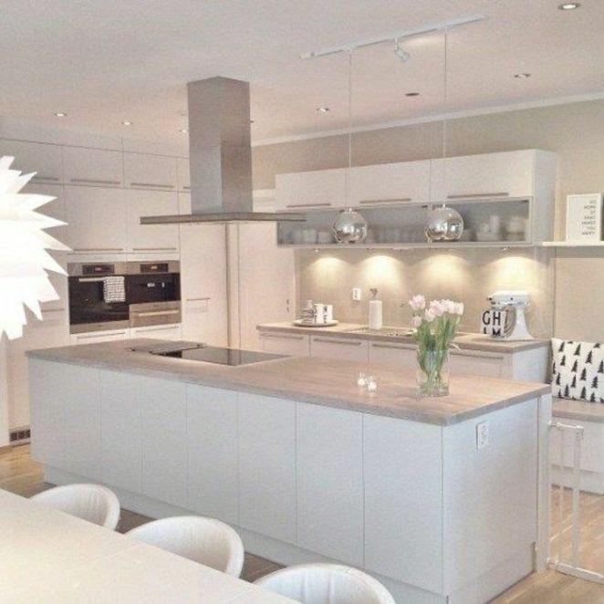 Déco Salon - un joli ilot de cuisine central dans la cuisine ...