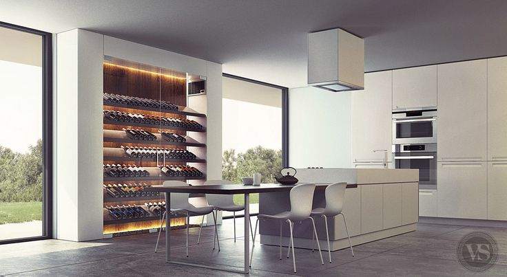 en cuisine cave a vin design salon. Black Bedroom Furniture Sets. Home Design Ideas