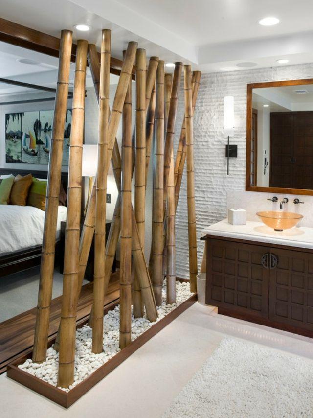 Idée décoration Salle de bain bambou déco salle bain asiatique