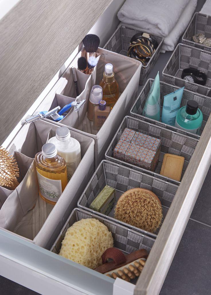 Rangement pratique salle de bain rangements ultra for Organiser sa salle de bain
