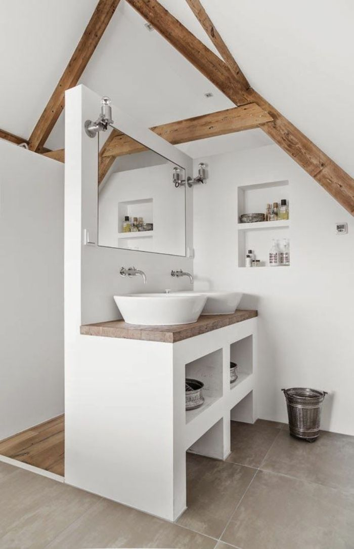 Id e d coration salle de bain jolie salle de bain de for Carrelage style campagnard