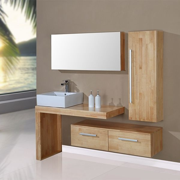 Id e d coration salle de bain la tendance est au bois for Salle de bain bois clair