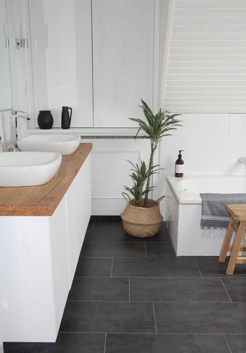 idée décoration salle de bain - salle de bain plancher de ... - Salle De Bain Ceramique Photo