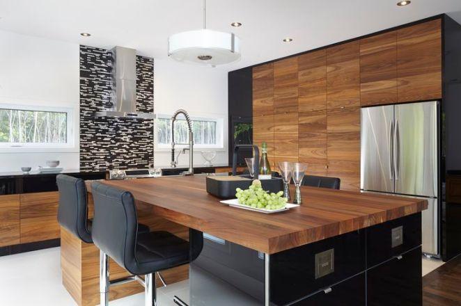Id e relooking cuisine armoires de cuisine moderne for Placage cuisine