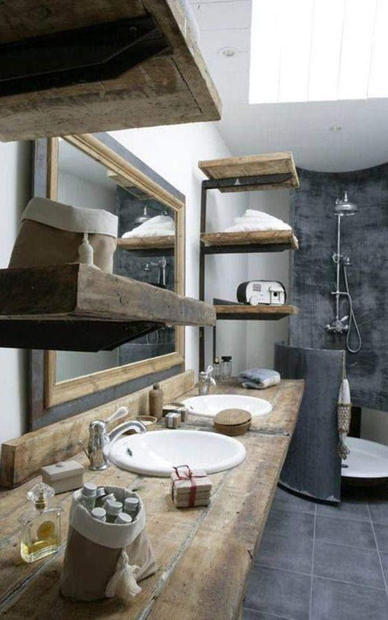 idée décoration salle de bain - béton ciré dans une salle de bain ... - Salle De Bains Beton Cire