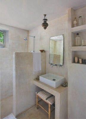 idée décoration salle de bain - salle de bain en tadelakt (enduit ... - Enduit A La Chaux Salle De Bain
