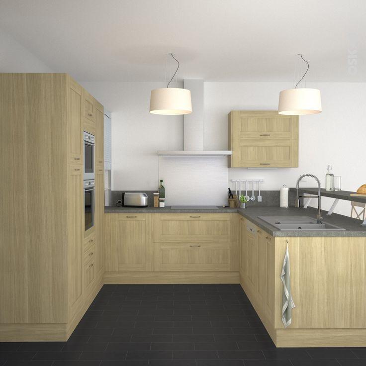 beautiful ide relooking cuisine cuisine campagne meubles de cuisine en meuble cuisine avec plan de travail with meuble bois cuisine