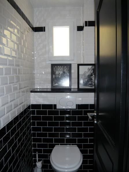 cool interesting ide relooking cuisine toilettes au style urbain o le carrelage mtro couvre la totalit des murs leading inspiration culture with idee