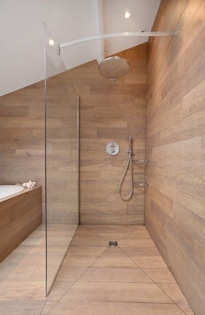 Id e d coration salle de bain douche enti rement for Decoration de douche