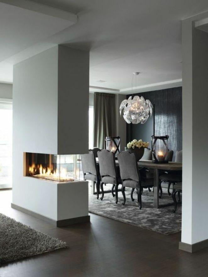 dco salon chaises contemporaines salle manger de luxe avec - Idee De Decoration Salon Salle A Manger