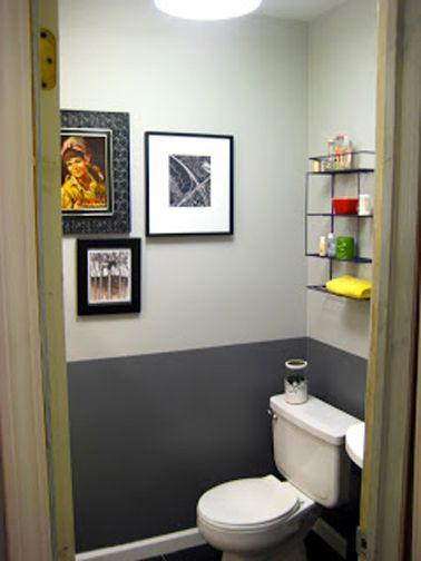 idée décoration salle de bain - peinture wc gris anthracite pour ... - Peinture Salle De Bain Gris Perle