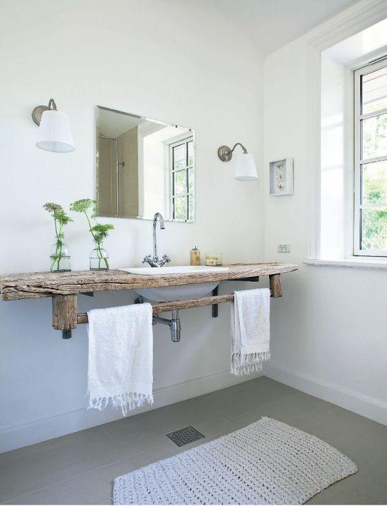 idée décoration salle de bain - salle de bain épurée tendance ... - Salle De Bain Epuree
