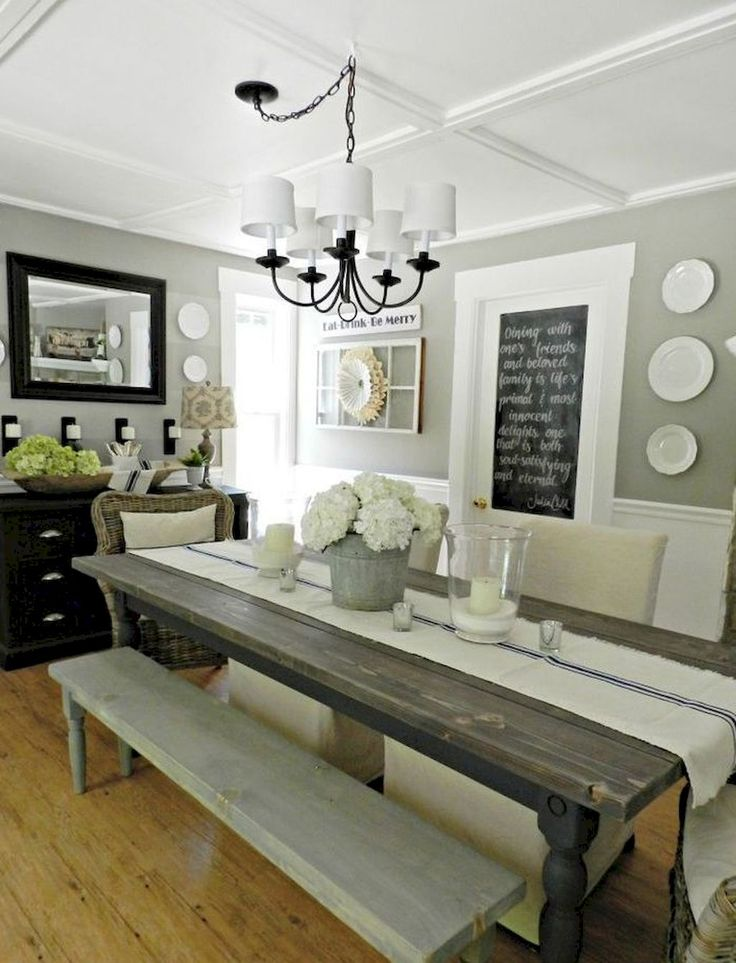 Salle A Manger Adorable 70 Lasting Farmhouse Dining Room Table And Decorating Ideas Homevialand