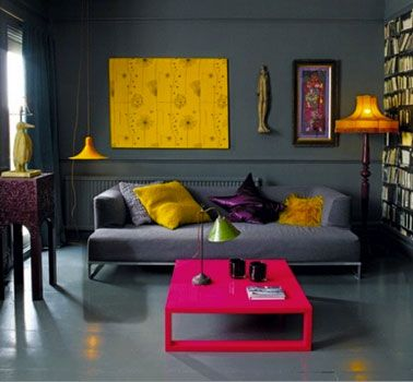 Beautiful Chambre Mur Jaune Moutarde Images - lalawgroup.us ...