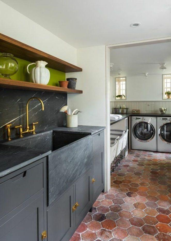 déco salon - tomettes hexagonales pour le sol de cuisine ... - Decoration Maison Avec Tomettes