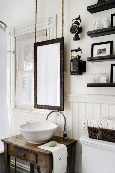 Idée décoration Salle de bain - Dans une salle de bain rétro le ...