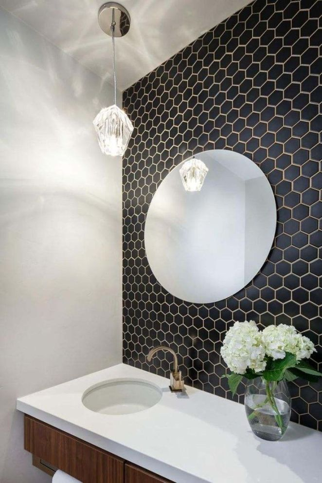 Idée Décoration Salle De Bain - Carrelage Hexagonal Pour Mur En