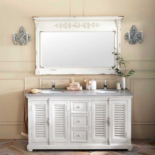 Id e d coration salle de bain meuble double vasque en for Maison du monde salle de bain