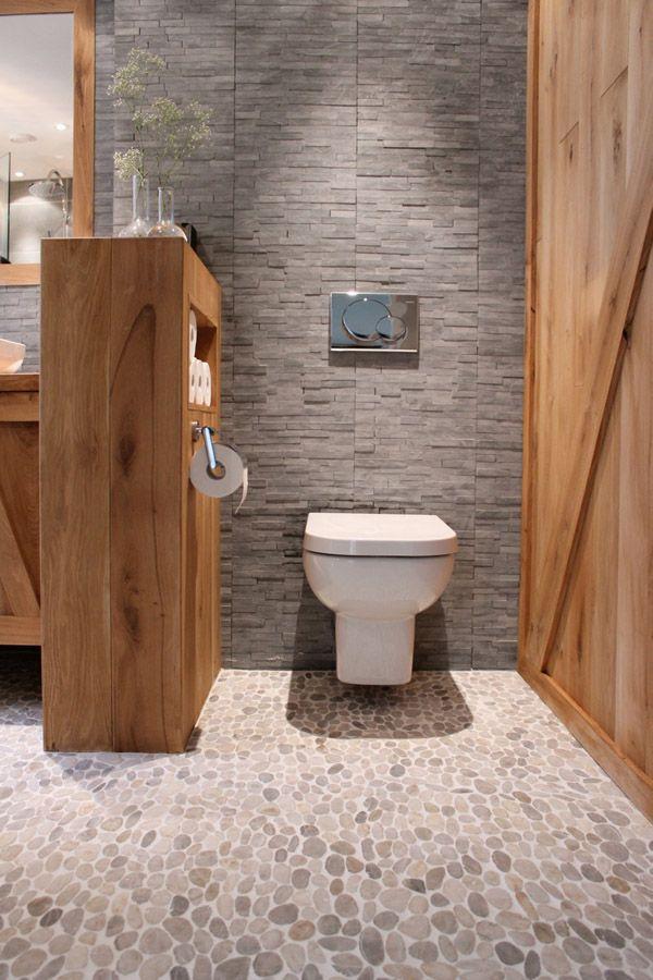 Idée décoration Salle de bain - Belle idée pour séparer les ...