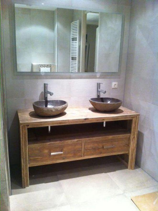 Id e d coration salle de bain meuble salle de bain pays for Tiroir meuble salle de bain