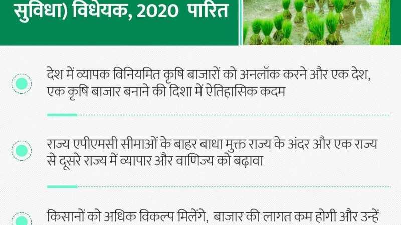 लोक सभा ने किसानों के हित में आज एक ऐतिहासिक विधेयक पास किया है।किसान अब अपनी फस… news in hindi