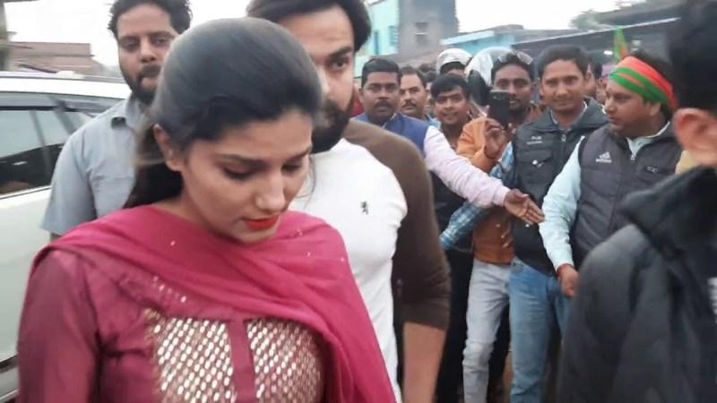 haryanvi song-Sapna Choudhary पहुँची झारखंड के दुमका में किया BJP का प्रचार